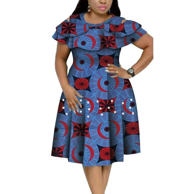 Robe Africaine Courte Rond Multiple