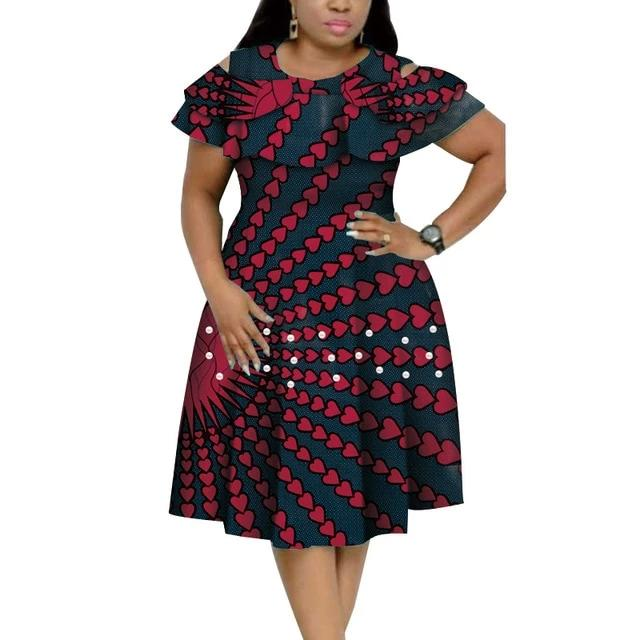 Robe Africaine Petits coeurs