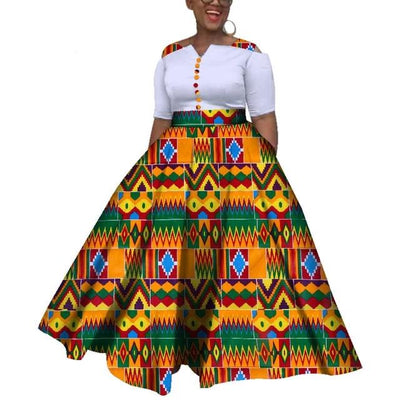Robe Africaine Longue Couleurs Typiques