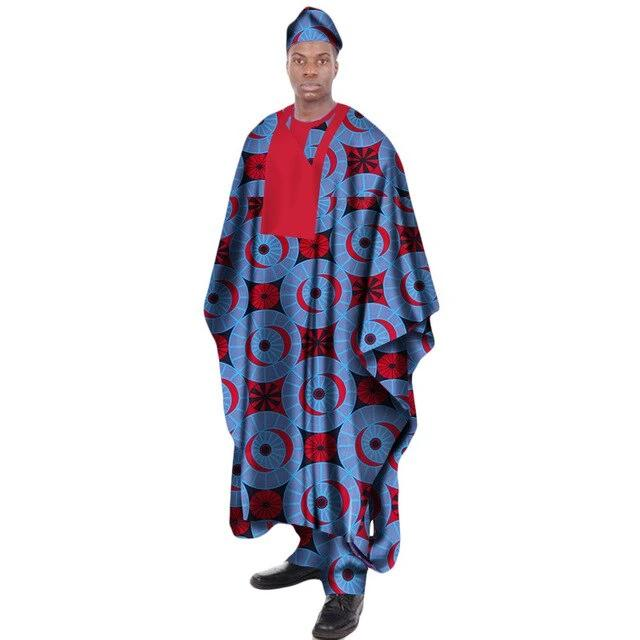 Boubou Africain Homme Demi Lune