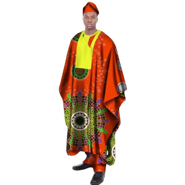 Boubou Africain Homme Traditionnelle Color