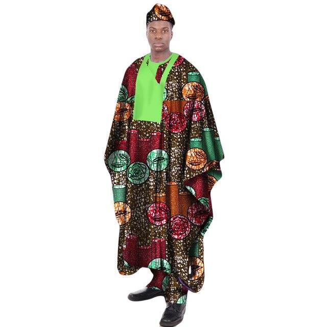 Boubou Africain Homme Rond Floral