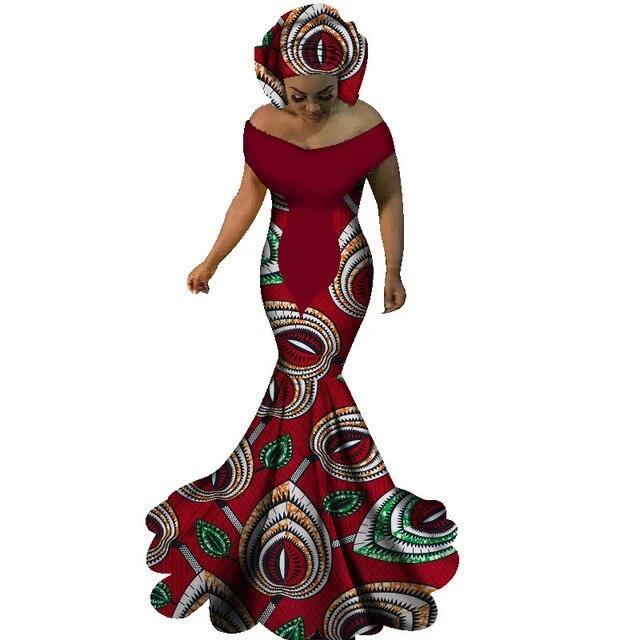Robe Africaine Longue <br> Rouge Floral