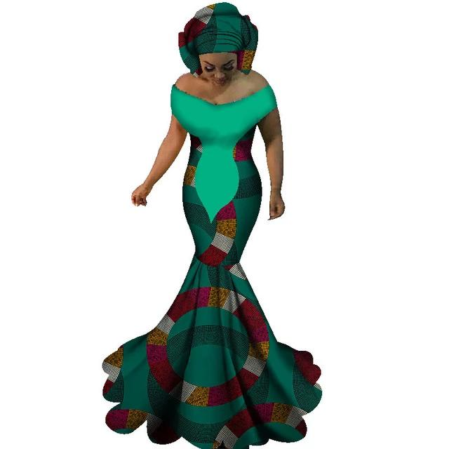 Robe Africaine Longue Cercle Vert