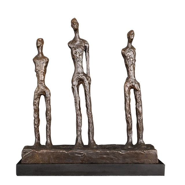 Statue Africaine Bronze 3 Piliers