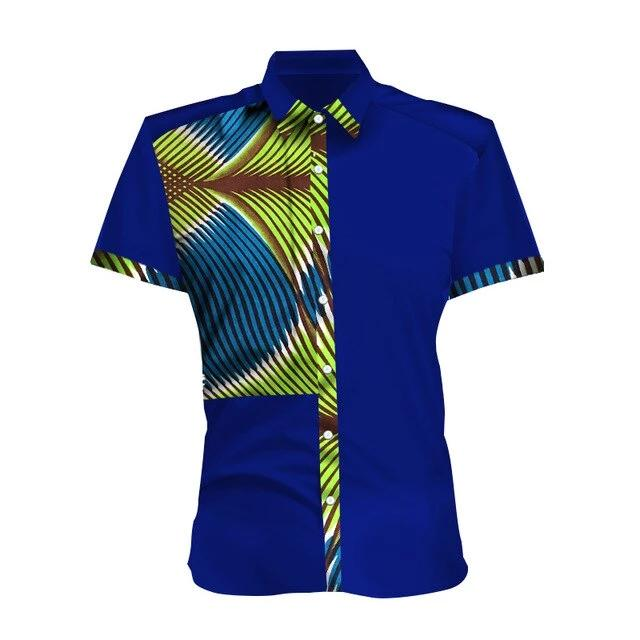 Chemise Africaine Homme Ete Palmier