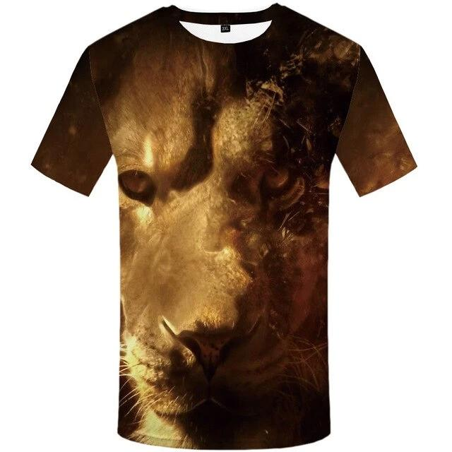 T-Shirt Lion Lionne Dominante
