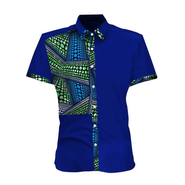 Chemise Africaine Homme A Motif Bande