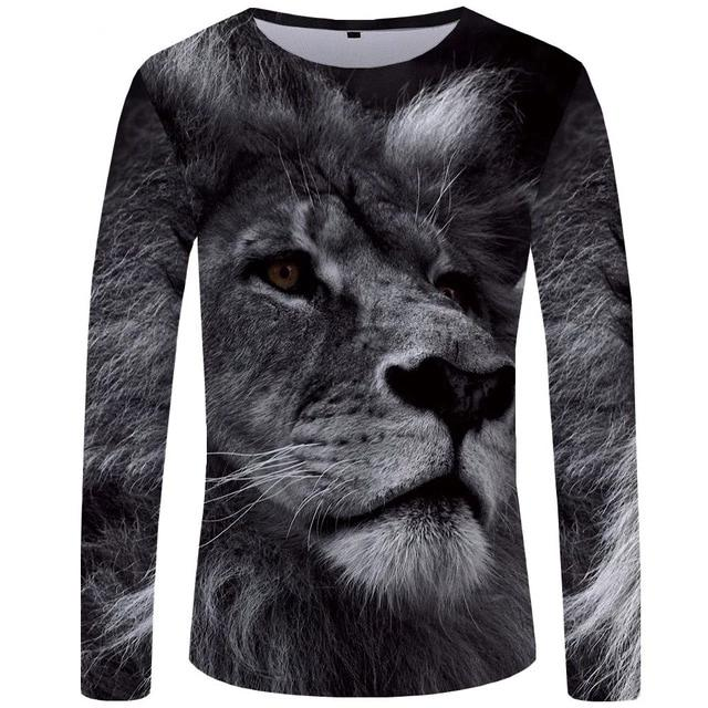 T-Shirt Lion Black and White (Long)