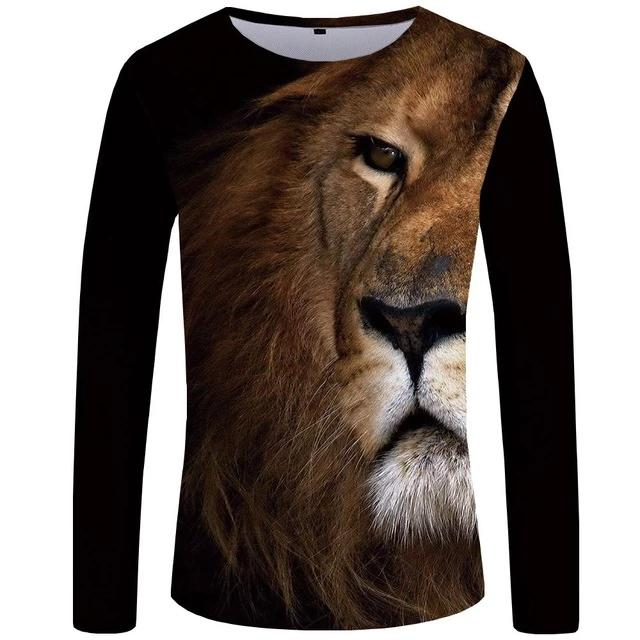 T-Shirt Lion Attentif (Long)