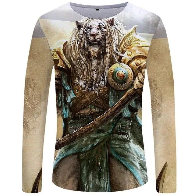 T-Shirt Lion Guerrier (Long)