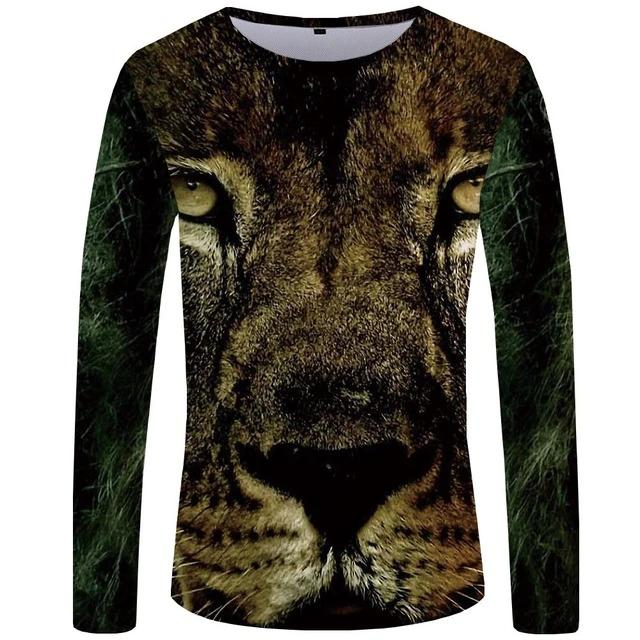 T-Shirt Lion Big Face (Long)