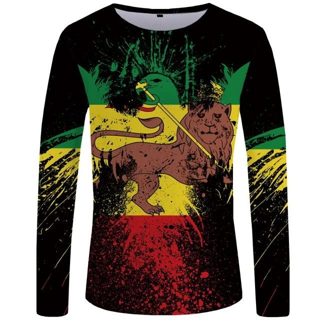 T-Shirt Lion <br> Rastafari (Long)