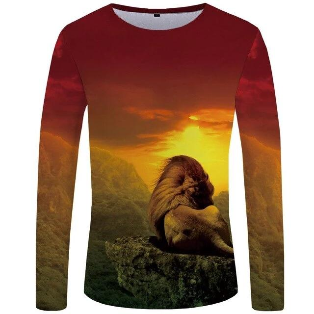 T-Shirt Lion Paysage (Long)