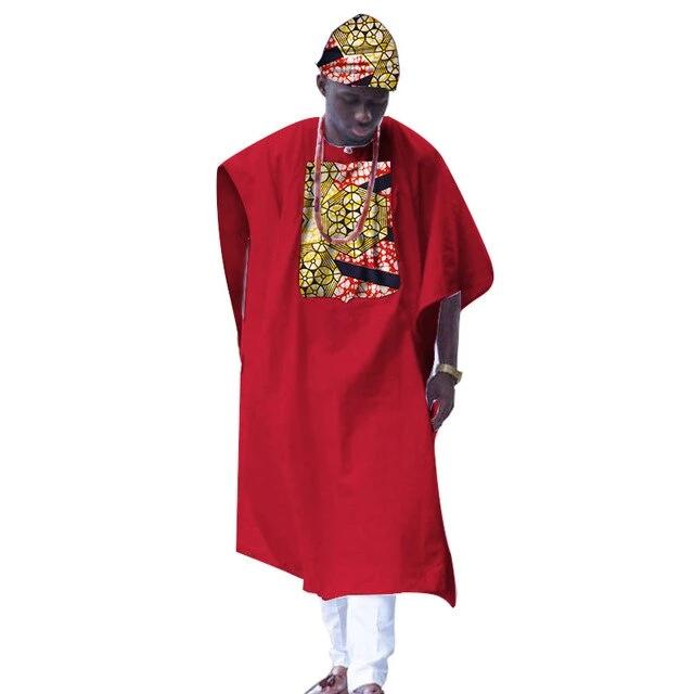 Boubou Africain Homme Rouge & Chic