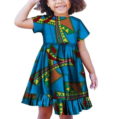 Robe Africaine Fille Motif Tour