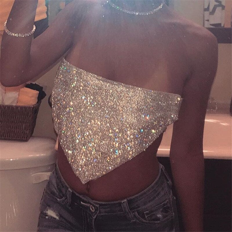 Top Strapless Crystal
