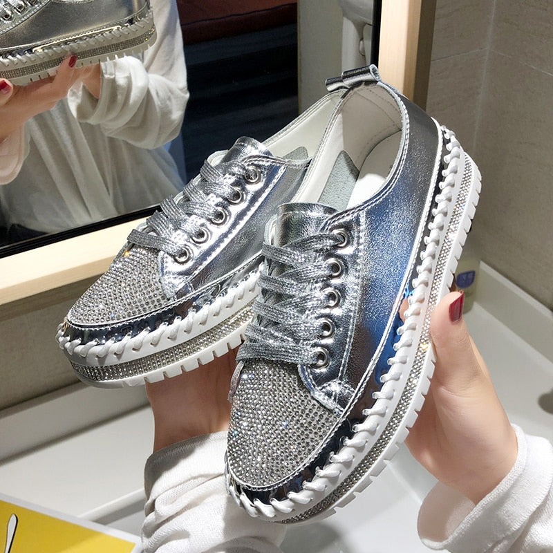 Tênis Creepers Strass