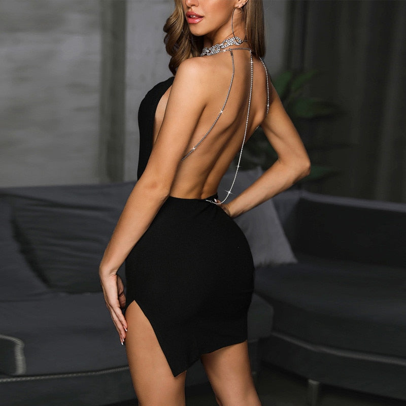 Vestido Backless Strass