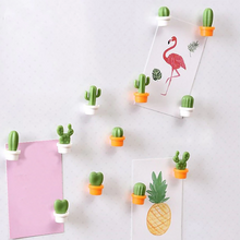 Load image into Gallery viewer, Cute Refrigerator Cactus Magnets, Funny Cute Fridge Magnets for Home Kitchen Decor (6 Pcs)