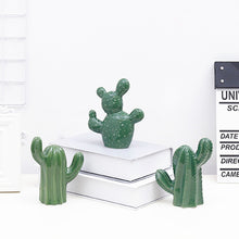 Load image into Gallery viewer, 1pcs Nordic Simulation Ceramic Cactus Potted Plant Home  Decoration Living Room Creative Desktop Crafts Ornament Accessories