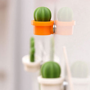 Cute Refrigerator Cactus Magnets, Funny Cute Fridge Magnets for Home Kitchen Decor (6 Pcs)