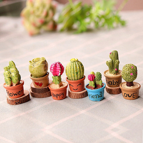 Tiny Cactus Miniature Succulent Plants For Home, Office, Garden, Dollhouse Decoration, Gift, Collectible, Eco-Friendly