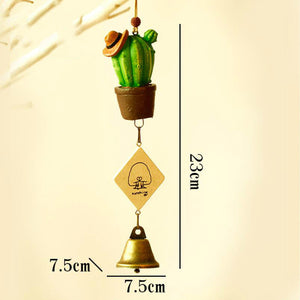 Creative Wind Chime Ornaments Succulent Cactus Ornaments Children's Day Gifts Home Furniture Decorations