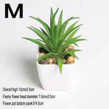 Load image into Gallery viewer, 1pc Super Cute Mini Succulent Artificial Plants Bonsai for Home Table Decoration Garden Decor Greem Plant Pot Craft Suppliy