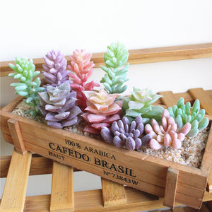 Mini Modern Succulent Faux Plants for Home Decor Indoor and outdoors