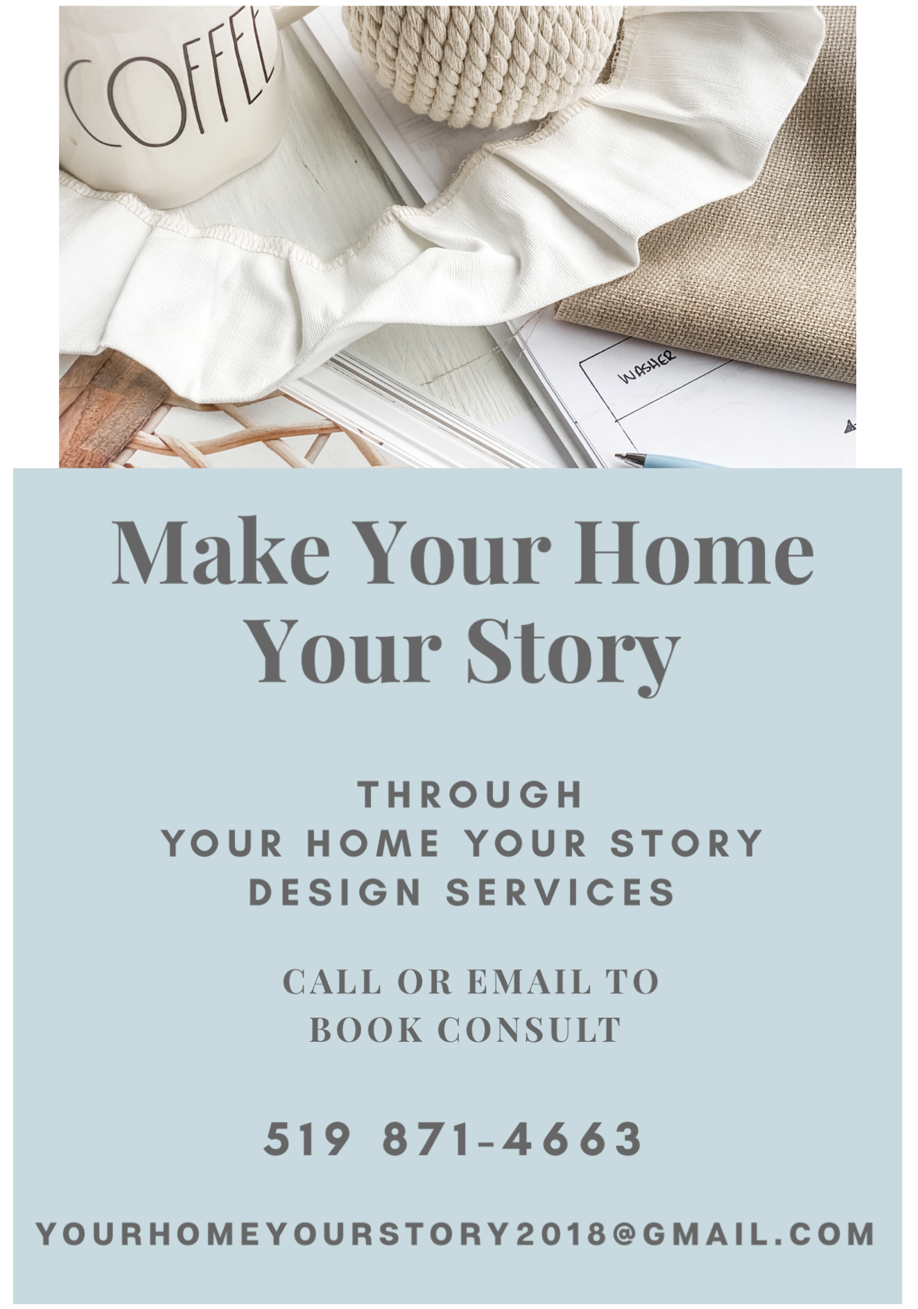 Your Home Your Story Design Services Flyer