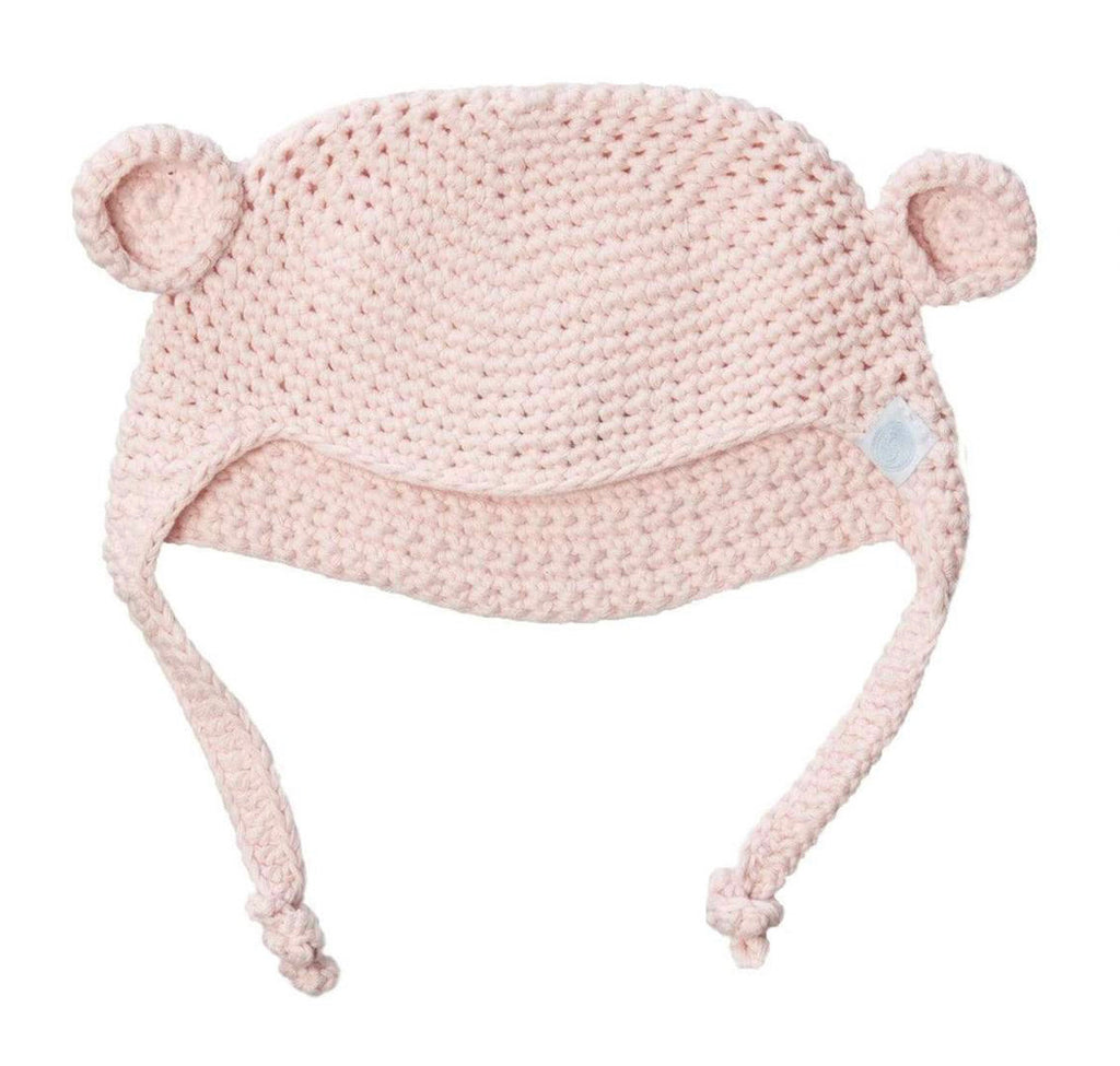 Crochet Bear Toque Pink