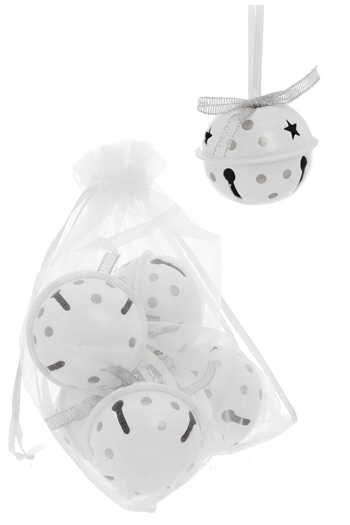 Set of 6 White Ball Ornament