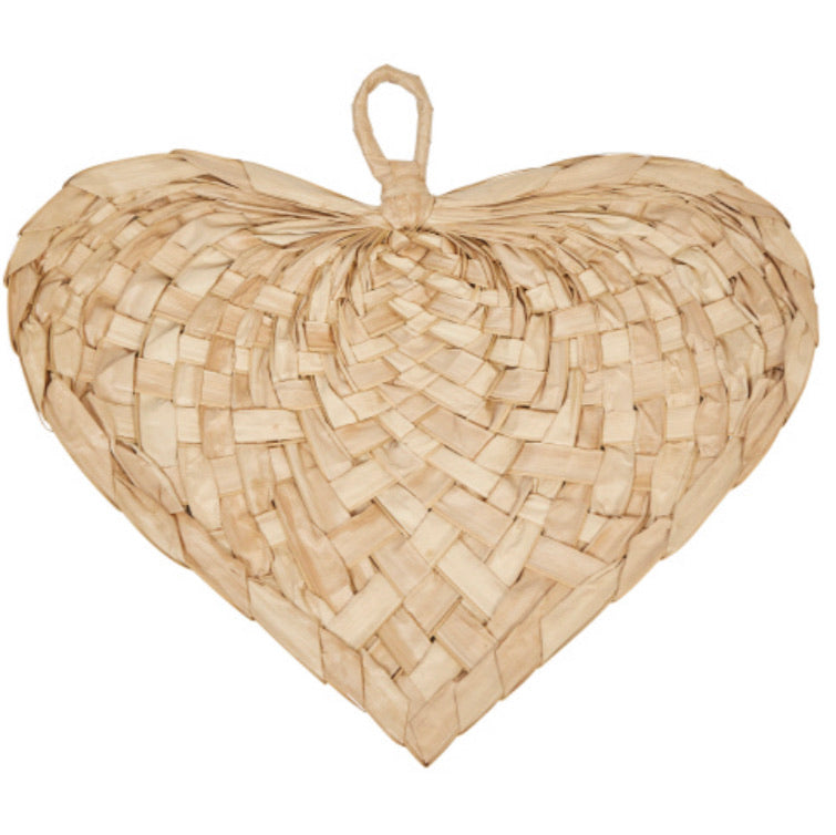 Hand-Woven Palm Heart Shaped Fan **In store item only**