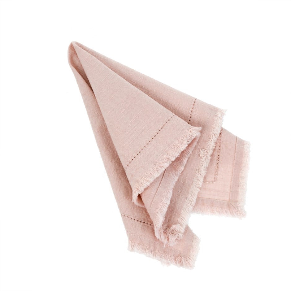 Frayed Edge Napkin, Rose