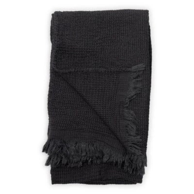 Wave Bamboo Towel, Charcoal