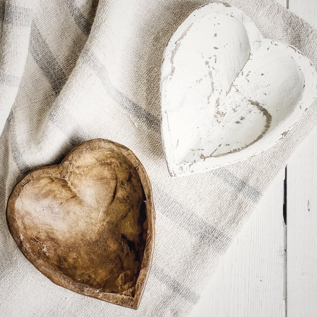 Hand Carved Wooden Heart Bowl