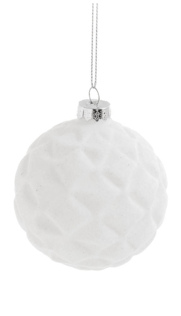 White Ball Ornament