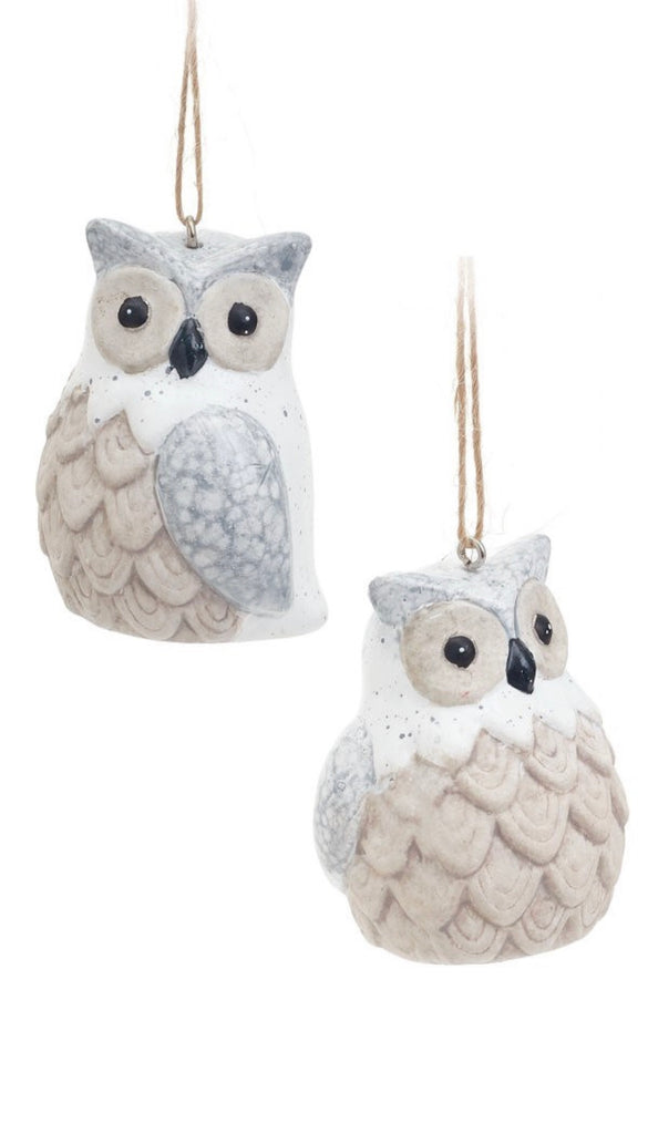 2 Assorted Owl Ornament