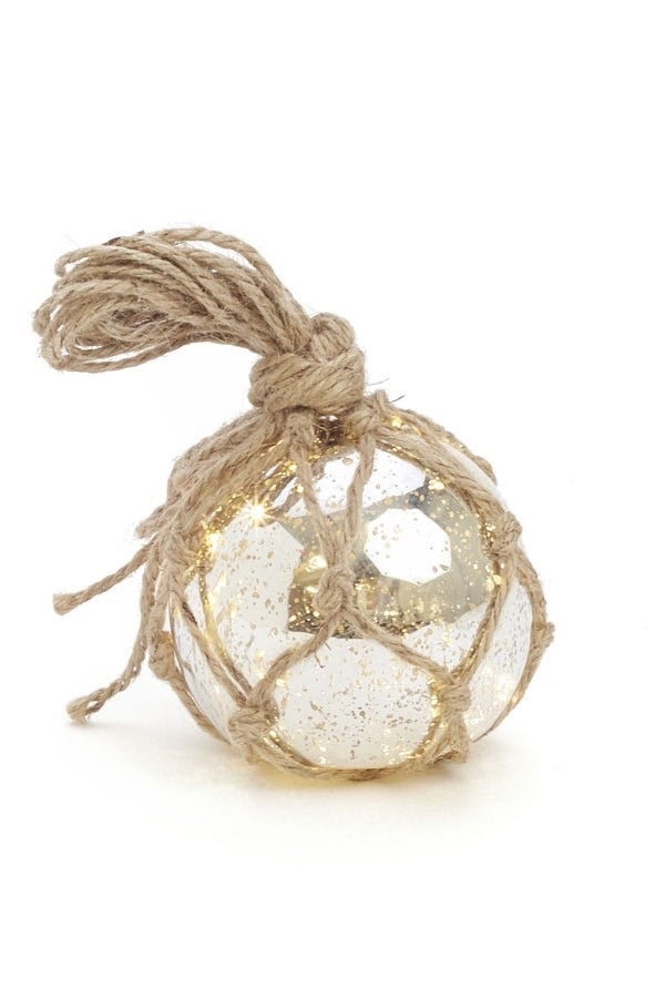 Silver Ball with Twine 4.5""