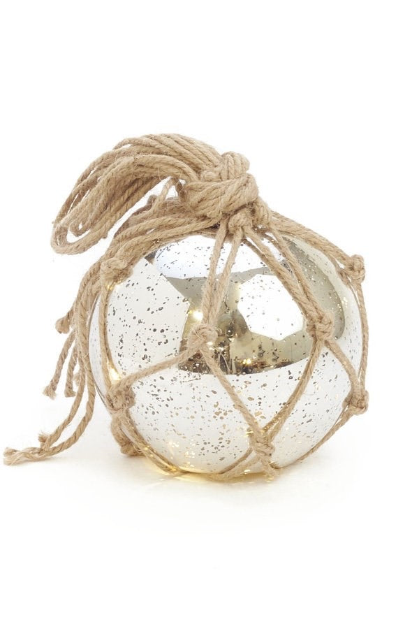 Silver Ball with Twine 6""