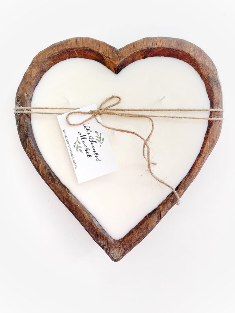 Heart Dough Bowl Candle