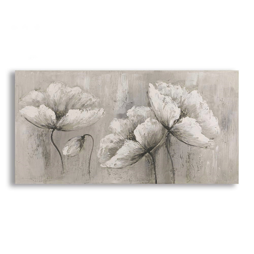 Three White Flowers. Oil Painting on Canvas. ** In store item only **