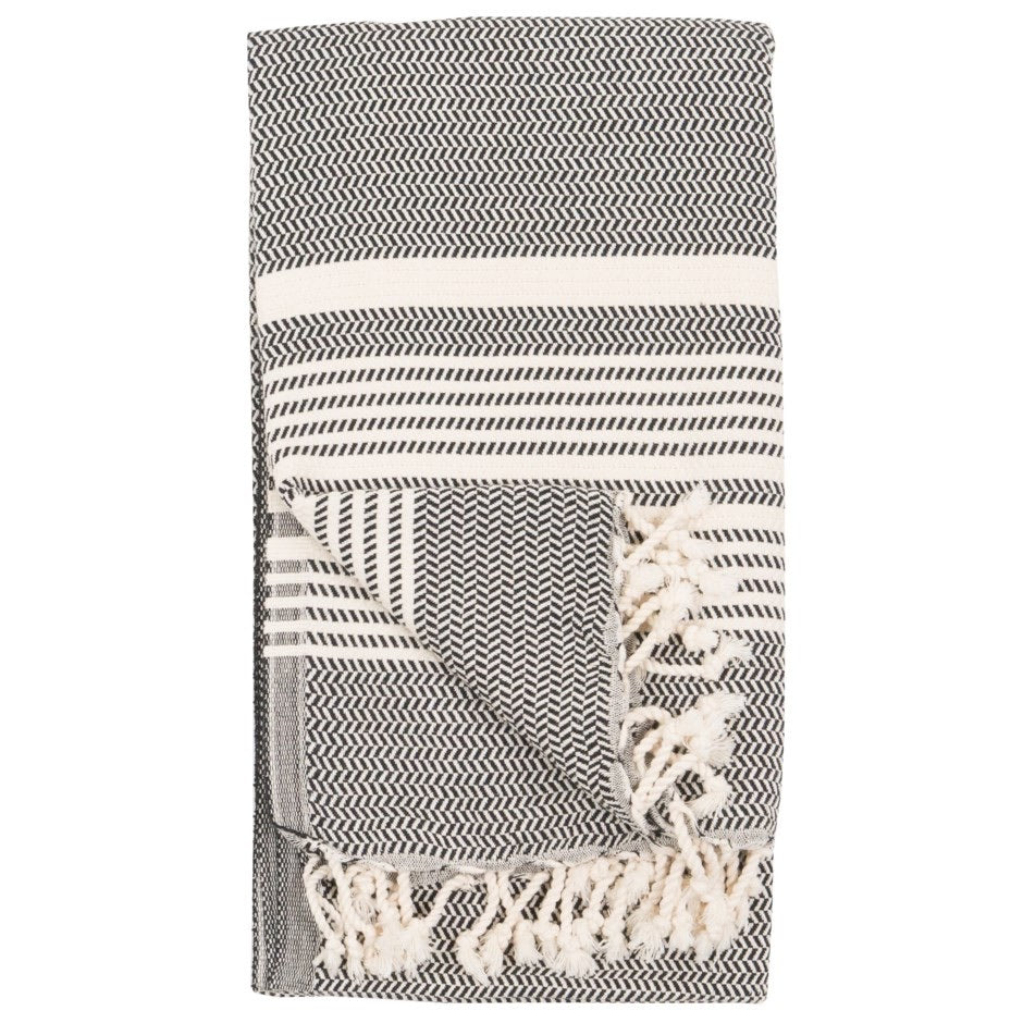 Turkish Towel/Throw, Carbon