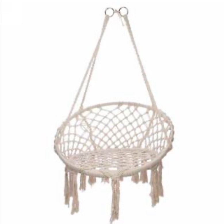 Macrame hanging chair, Natural.  **In store item only**