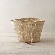 French Market Tote, Sisal Handle