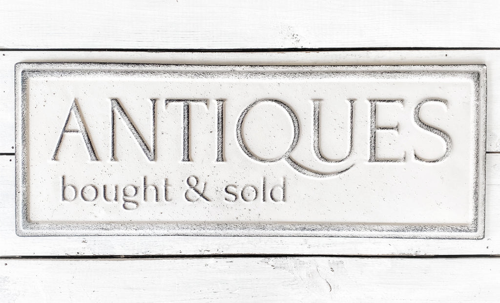 Vintage Metal Antiques Sign
