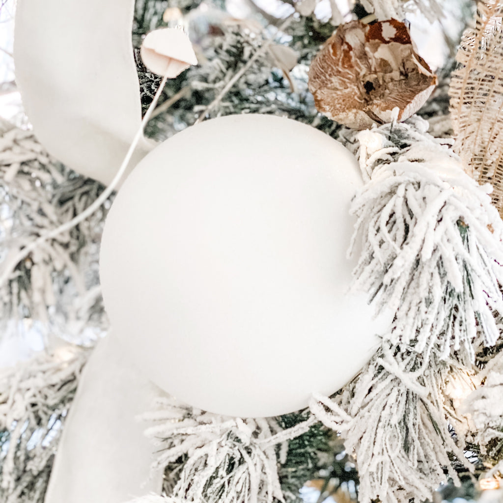 White Shimmer Ball Ornament