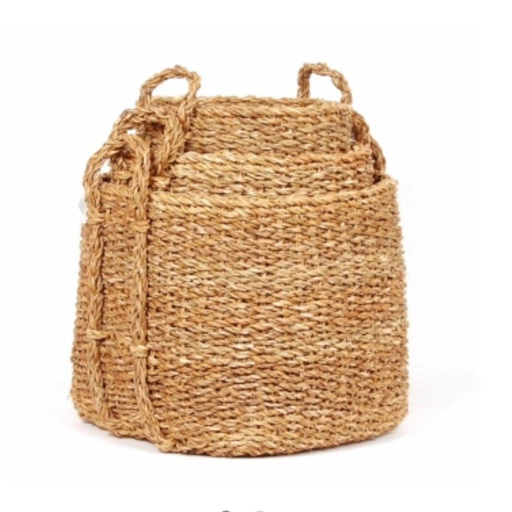 Square Seagrass Baskets (set of 3)
