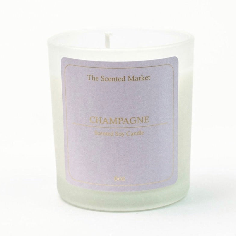 Champagne 6oz Scented Soy Candle